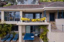 Happy Birthday Balloon Sign On...