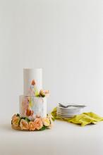 Contemporary Painted Wedding Cake