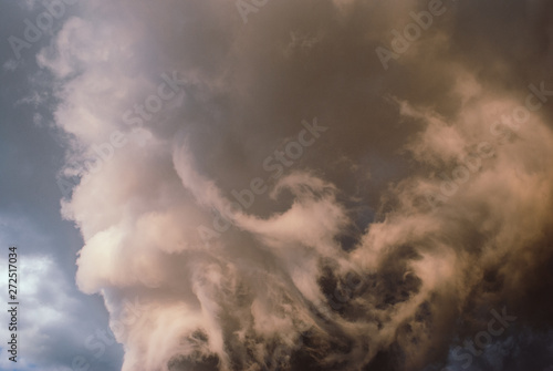 Canvas Print Thunderclouds before the storm.