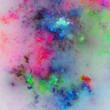 Rainbow fractal nebula, digital artwork for creative graphic design