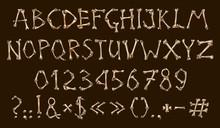 Alphabet And Numbers Of Bones, Dia De Los Muertos