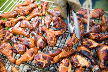 Chicken Wings On A BBQ