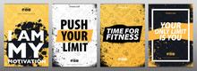 Fitness Gym Motivation Quote. Grunge Poster Concept.