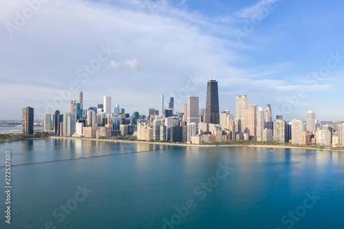 Spoed Foto op Canvas Abu Dhabi Chicago buildings skyline downtown aerial