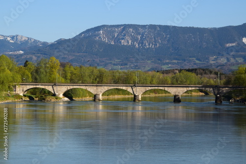Obraz na plátne Untere Innbrücke in Rosenheim