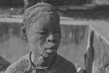 Statue Of Black Man In Africa