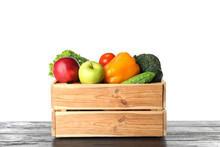Wooden Crate Filled With Fresh...