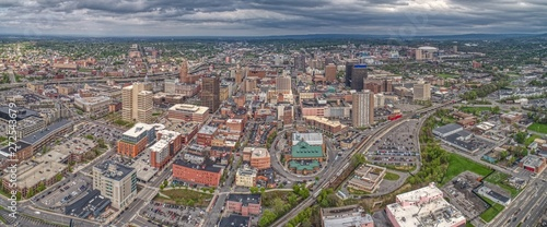 Valokuva Aerial View of Syracuse, New York on a Cloudy Day