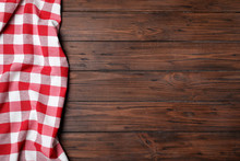 Checkered Picnic Blanket On Wo...