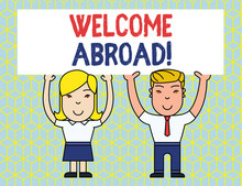 Handwriting Text Welcome Abroa...