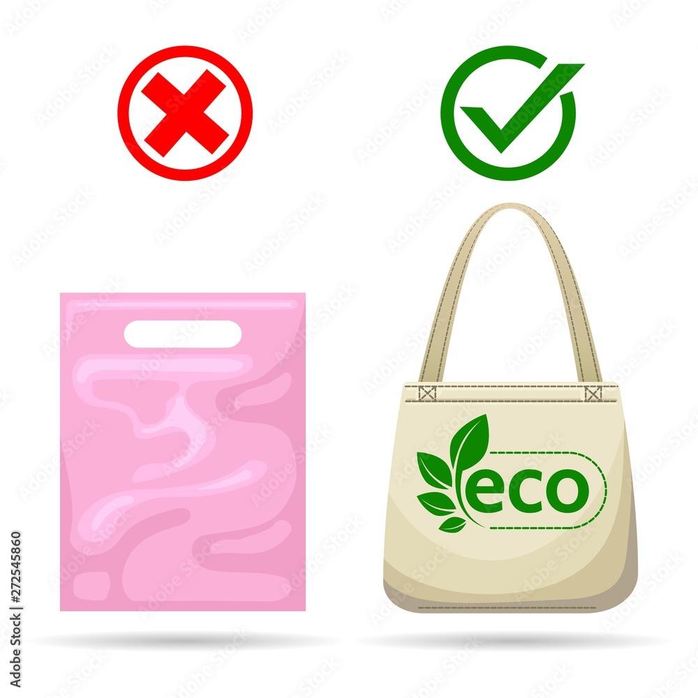 Fototapeta No plastic bags