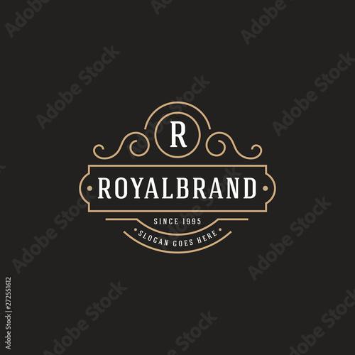 Fotografía  Luxury Logo template flourishes calligraphic elegant - Vector