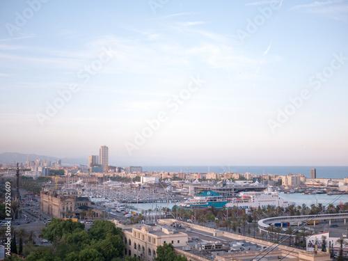 Barcelona podczas zachodu słońca, Hiszpania
