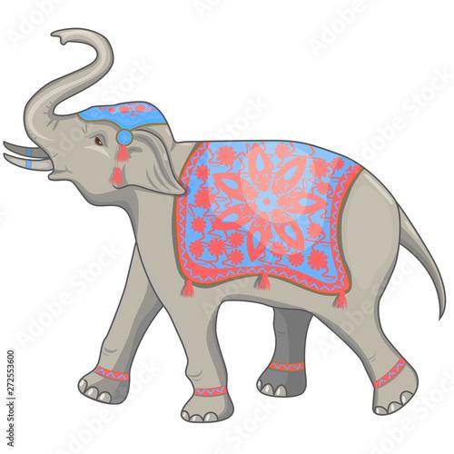 Photo Indian elephant festival vector illustration