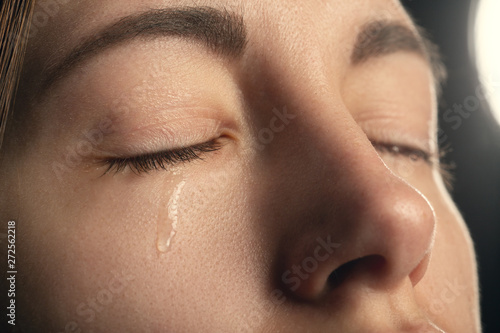 Fotografie, Obraz  young girl crying