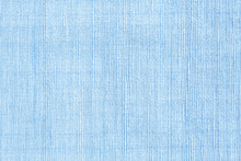 Blue Weave Cotton Background Texture