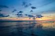 Sunset sky background on the beach