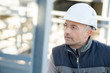 worker on a cement plant
