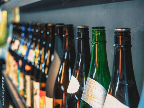 Wall Murals Bar Sake bottles Japanese Alcohol drink Bar background