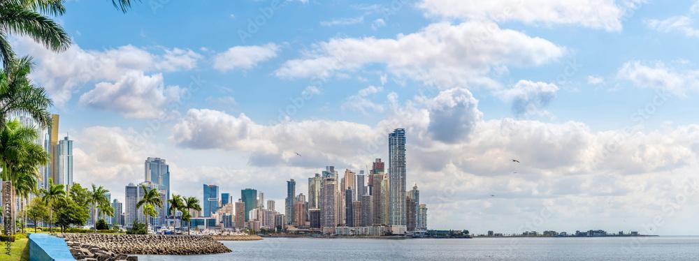Fototapeta Panoramic view at the Downtown of Panama City - Panama