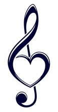A Symbol Of A Treble Clef With...