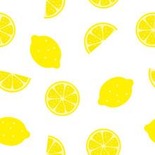 Lemon Seamless Pattern Background Texture