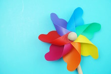 Colorful Pinwheel With Space C...