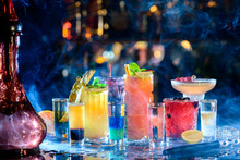 Set Of Alcoholic Cocktails In ...