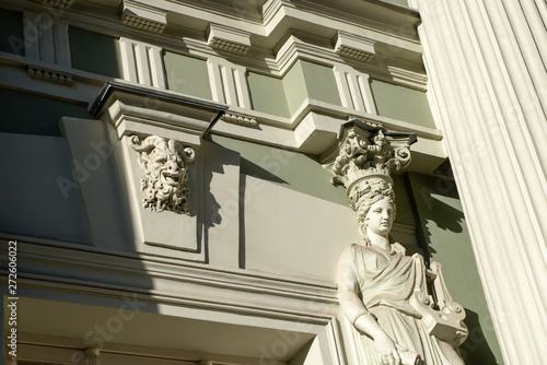 "MOSCOW - OCTOBER 27, 2018: Von Reck Manor (also known as the Reck Mansion, ""House with Lions"") is a building on Pyatnitskaya Street Canvas-taulu"