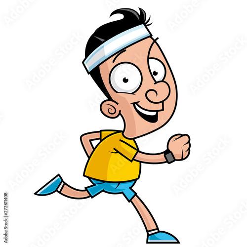 Cartoon character running