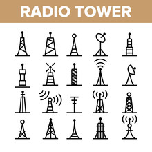 Radio Towers And Masts Vector ...