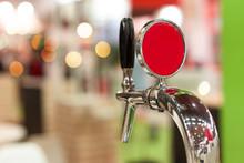 Beer Tap In Bar, Mock Up