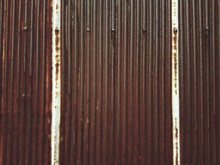 Old Rusted Zinc Fence
