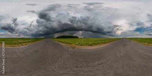 full seamless spherical hdr panorama 360 degrees angle view on asphalt road amon Wallpaper Mural
