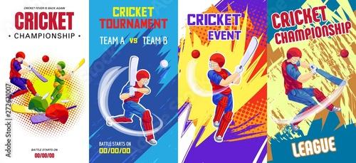 Fotografia Cricket banner set