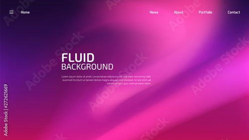 Fotomural  Trendy summer fluid gradient background, colorful abstract liquid 3d shapes