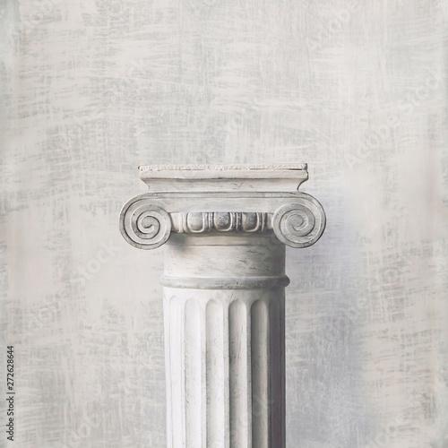 Photo Stone column on light gray background