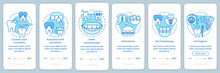 Dental Clinic Services Onboarding Mobile App Page Screen With Linear Concepts