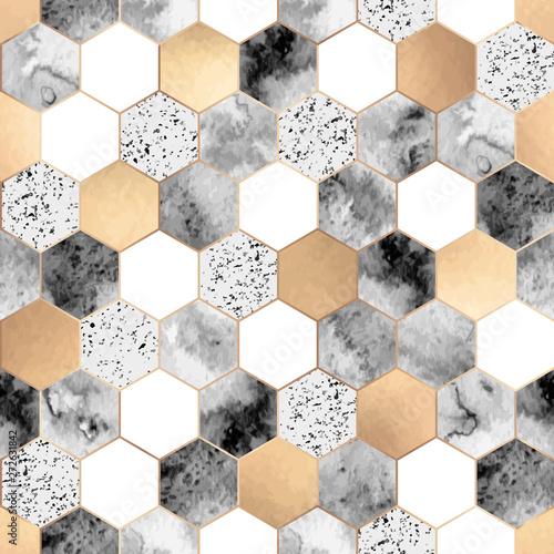bezszwowy-abstrakcjonistyczny-geometryczny-wzor-z-zlota-folia-szarym-marmurem-i-akwarela-szesciokatami