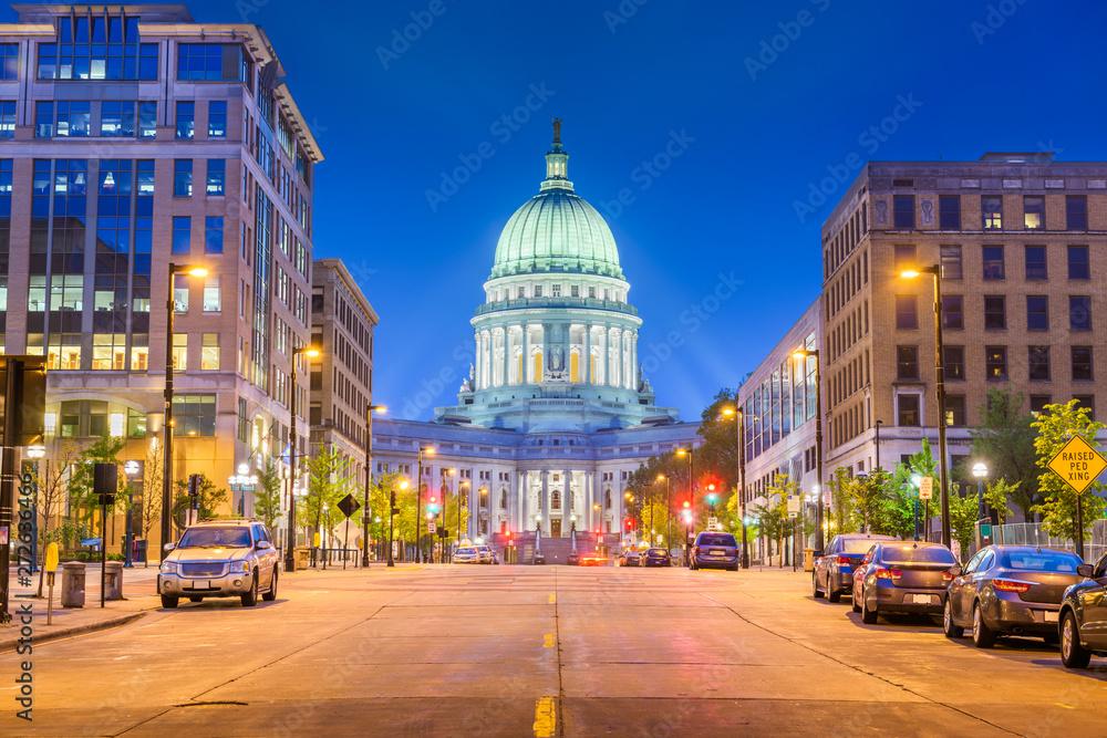 Fototapety, obrazy: Madison, Wisconsin, USA state capitol