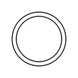 Full moon icon. Element of Whether for mobile concept and web apps icon. Outline, thin line icon for website design and development, app development