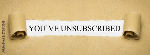 Fotografia, Obraz  You´ve unsubscribed