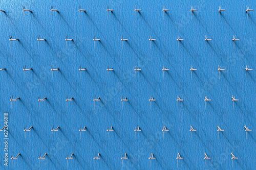 Papel de parede 3D rendering of an aerial view of wind turbines in the ocean