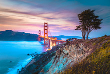 Golden Gate Bridge At Twilight...