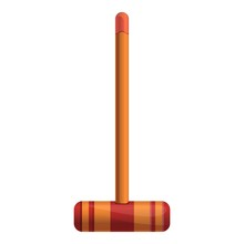 Croquet Wood Mallet Icon. Cart...