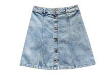 Denim Skirt Isolated