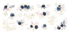 Set Of Floral Branch. Flower N...