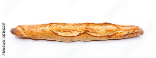 Fototapeta Französisches Baguette isoliert auf Weißem Hintergrund obraz