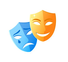Theatre Mask Crying And Smilin...