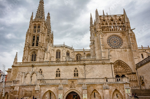 Fotografie, Obraz  Sarmental door of the Cathedral of Burgos